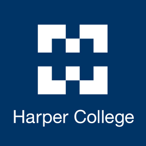 Stock Image - Harper Logo on Blue Background