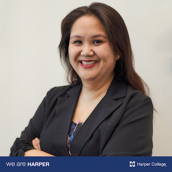 A front-facing photo of female Harper alumni, Kim Dang