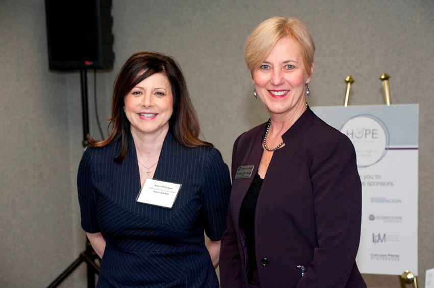 Karen McGuigan and Dr. Mary Beth Ottinger,