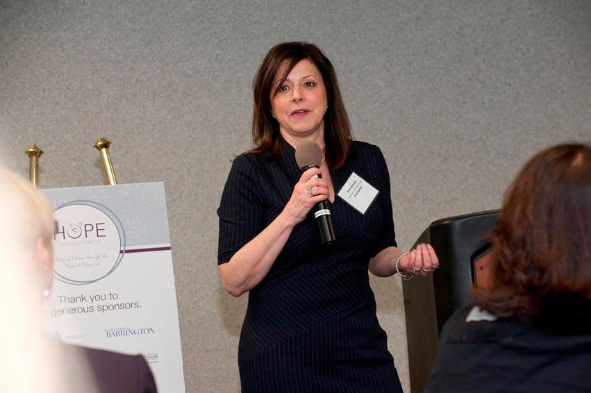Guest speaker Karen McGuigan