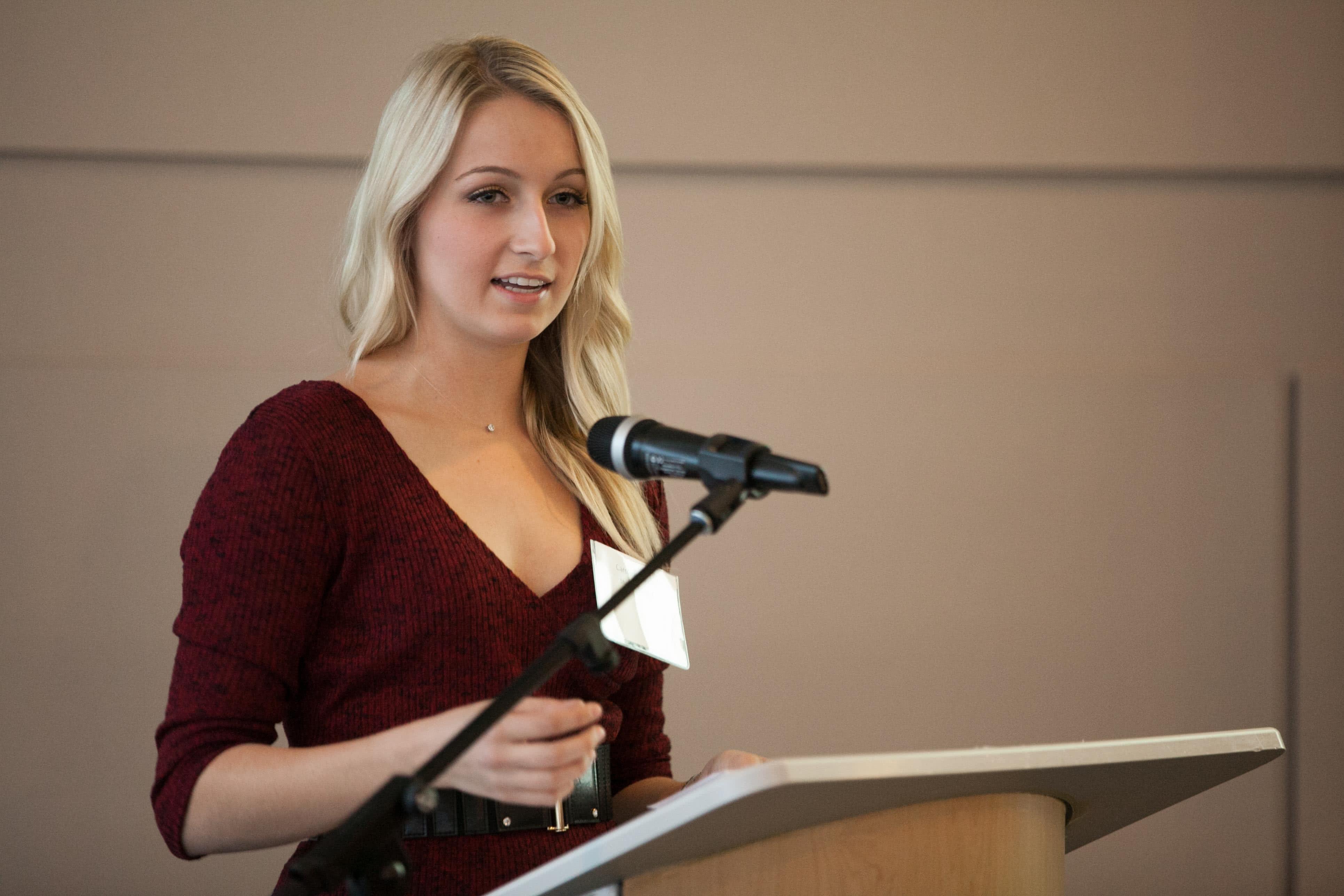 Caroline Wawro sharing her story