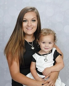 Brandy Sperry and daughter Grace