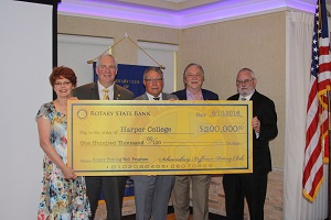 Rotary Club check presentation