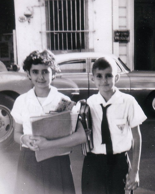 Clara and Ricardo Basch as children in Cuba