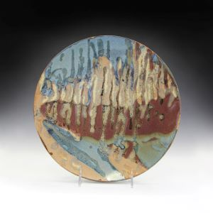 Plate to be sold at Clay Guild Pottery Sale