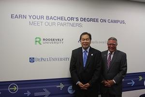 Harper, DePaul partner to offer bachelor's degrees at