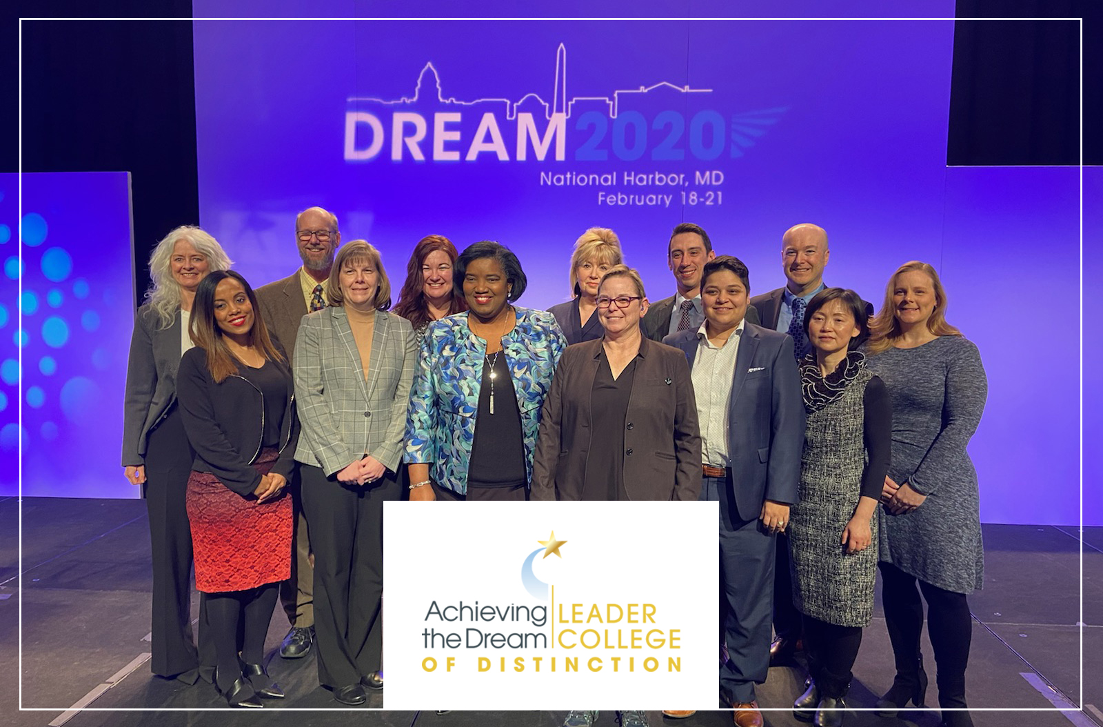 Harper College leaders at the Achieving the Dream conference