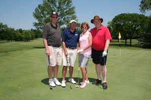 Golfers at Harper Golf Open
