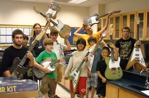 Students in InZone guitar class