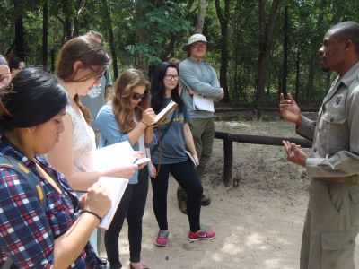 Harper students study abroad in Zimbabwe