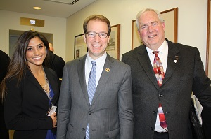 Marisa Andreuccetti and Bill Kelley meet with U.S. Rep. Peter Roskam