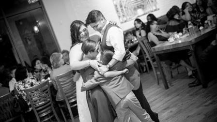 Mercado family on the dance floor at their wedding