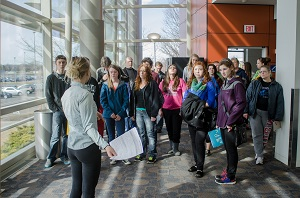 Student-led tour during Open House