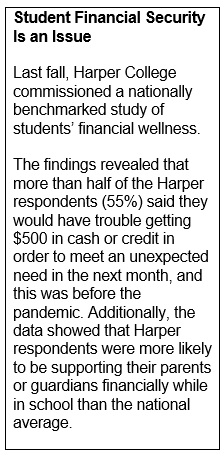 Sidebar article about student financial wellness survey