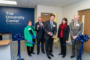 Greg Dowell leads ribbon cutting at University Center dedication
