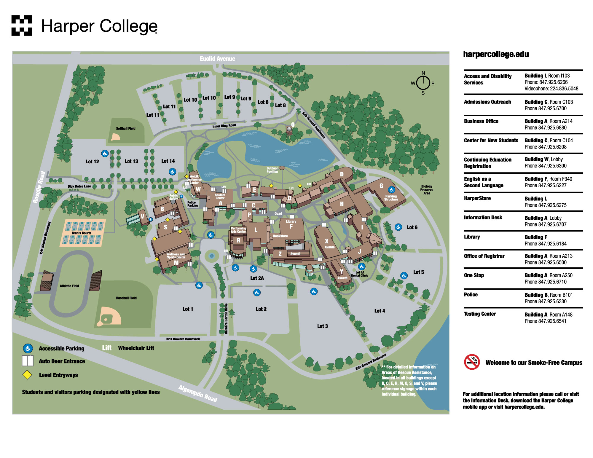eventdetails - click here for harper college campus map
