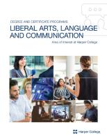 Cover of Liberal Arts brochure