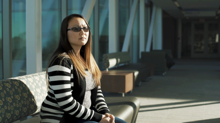 Saly Phom, a student in Harper's HVAC program