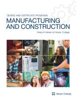 Cover of Manufacturing & Construction brochure
