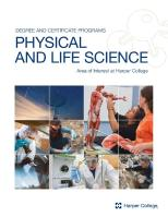 Cover of Physical and Life Science brochure