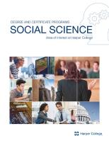Cover of Social Science brochure