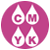 Circle icon with ink drops for CMYK colors
