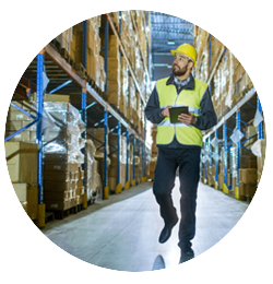 Supply chain manager warehouse