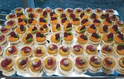 Pastries, Catering services