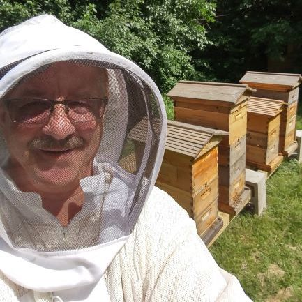 Frank Moriarty owner of Honey with Style and Sweet Cyndees Bees