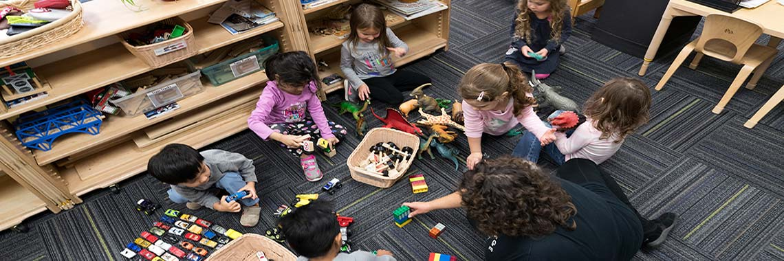 Children play at the Early Childhood Learning Center
