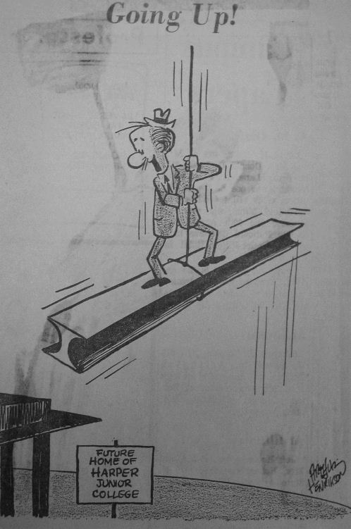 Cartoon - Man in Suit on Construction Craine