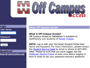image of off campus library login