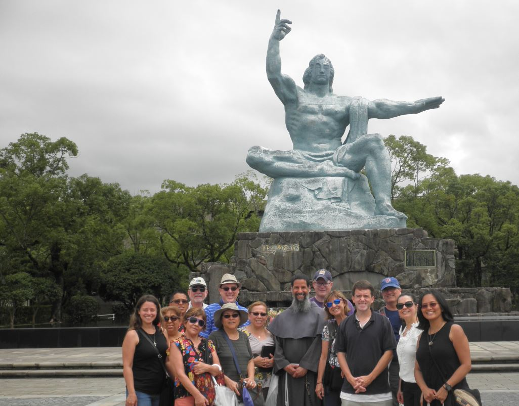 Group at Peace Park in Nagasaki, Japan