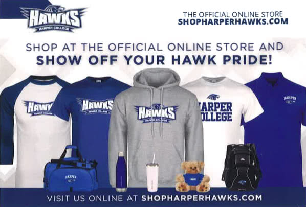 Harper Hawks branded sweatshirts and other gear