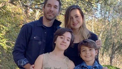 Celeste Tomaz and her family