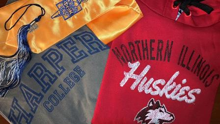 Harper and NIU spirit wear