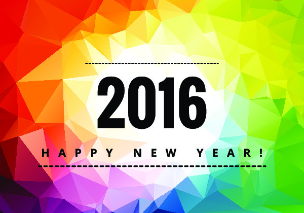 Happy New Year Two Thousand Sixteen Banner