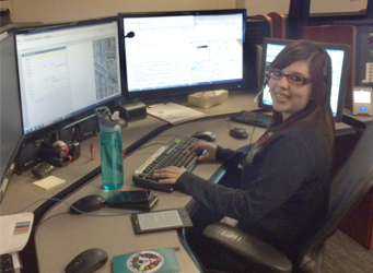 Alexandra Cardenas 911 Dispatcher, Northwest Central Dispatch System