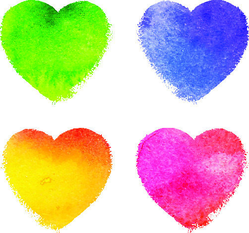 Colorful Hearts for February