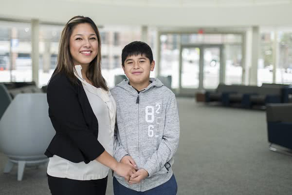 Zaira Ponce and her son